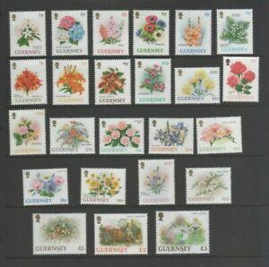 Guernsey 1992 Definitives, Flowers Mint MNH Set to £3 Pounds