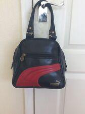 Puma Retro/vintage Bowling Bag In Navy Blue & Red