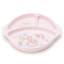 Hello Kitty Baby Kids Plate Pink Rocking Horse Sanrio Japan