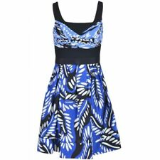 DIANE VON FURSTENBERG SITA DRESS DVF NEW RIVERIA BUD BLUE 12 US uk 16 SLVLS FUL