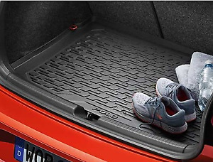 Genuine Volkswagen Polo Boot Tray Liner Protector Mat Plastic 2017-Current
