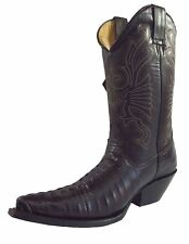 Grinders Carolina Croc Tail Leather Premium Mexican Cowboy Boots