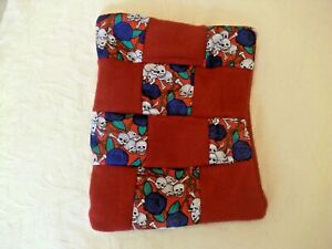 SKULLS &ROSES PATCHWORK LAVENDER & ORGANIC WHEAT BAG USE HOT OR COLD PAIN RELIEF