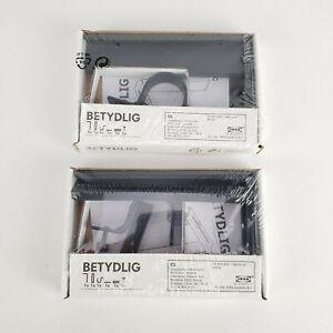 (Lot of 2) Ikea Betydlig Wall Curtain Rod Bracket Black 602.172.28 New