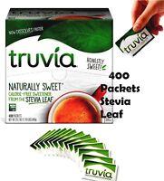 1 BOX  Truvia Calorie Free Naturally Sweetener  Stevia Leaf 400 Packets 42.3oz
