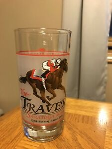The Travers Saratoga Race Course 12 Ounce Glass August 28 2000 130th  Running