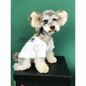 Clearance Pets Clothes Short Sleeves Collar T-Shirt Brand Designer Luxury Cotton