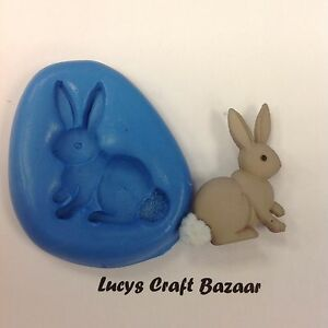 Silicone Mould Spring Easter Bunny Rabbit 1 Sugarcraft Cupcake Topper Chocolate