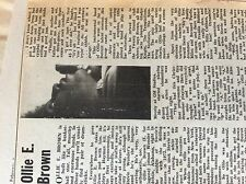 B1M ephemera 1974 music article stevie wonder band ollie e brown