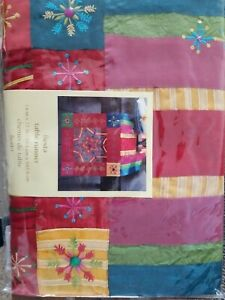 NEW Pier 1 One Imports~ Fiesta Red Holiday Beaded Table Runner With  Star