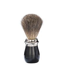 Pennello da barba in tasso2° artigianale-Fine Badger-manico nero (made in Italy)