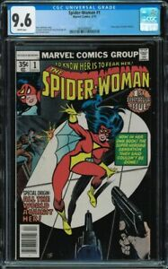 Spider-Woman #1 CGC 9.6 White Jessica Drew new origin Marvel