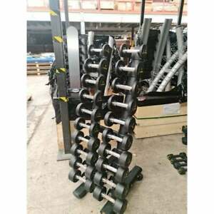 Ziva 1kg-10kg Urethane Dumbbell Set with Rack - Commercial Gym Equipment