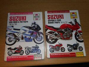 Suzuki GSXR 600/750 fours & Bandit GSF 600/1200 fours Haynes Manuals