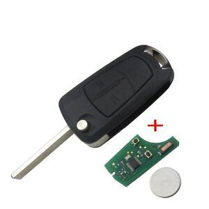 FULL NEW Flip Remote Key Fob 2 BTN 433MHz PCF7946 Vauxhall Opel Vectra C Signum