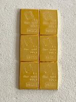 6- 1 GRAM (999.9 FINE) GOLD VALCAMBI BARS, SEE OTHER GOLD, SILVER & COINS