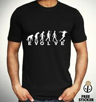 Football Human Evolution T-shirt Funny Cool Evolve Tee Sporty Gift Top Mens