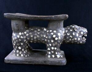 Art Africain Tribal - African Stool - Rare Tabouret Zoomorphe Adjoukrou - 33 Cms