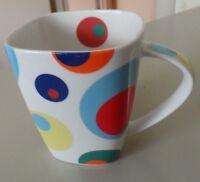 "Churchill Fine China RETRO  ""PINBALL""  60's Look/Psychedlc Coffee Mug Multicolor"