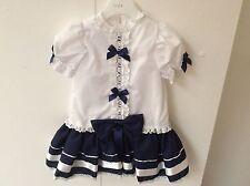 Patternless Handmade Dresses (0-24 Months) for Girls