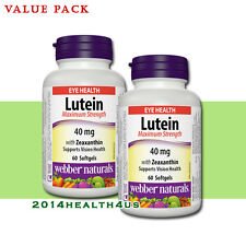 2 x Webber Naturals Lutein with Zeaxanthin, 40 mg  Maximum Strength, 60 softgels