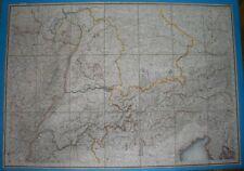 1756 XXL RARE ORIGINAL MAP SLOVENIA ITALY GERMANY FRANCE BOHEMIA AUSTRIA TIROL