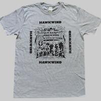 HAWKWIND METAL PROG ROCK T-SHIRT unisex grey S-3XL