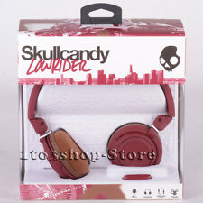 Skullcandy Lowrider On-Ear Foldable Stereo Headphones w/Mic Headset (Brown) NEW
