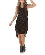 NEW FOR SPRING! Wrangler WOMENS BROWN Western Tie Dye DRESS Studs Fringes XL