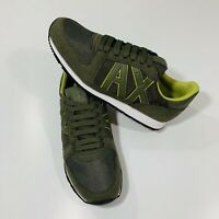 ARMANI EXCHANGE A/X LOGO Mens Retro Low Top Trainers Sneakers Size 7 )