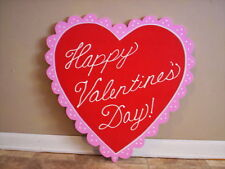 2 Foot Scalloped Happy Valentine Heart - Valentine's Day Yard Art Decoration
