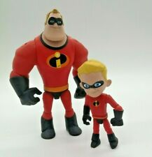 The Incredibles 2pc Lot - Mr Incredible (5.5�) & Dash (3.5�) Poseable Figures