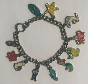 NEW Disney Ariel Little Mermaid 10 Charm Bracelet, Flounder, Sebastian
