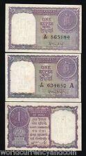 INDIA 1 RUPEE P74 a & b 1951 COIN UNC SET WORLD PAPER MONEY BILL 2 PCS BANK NOTE