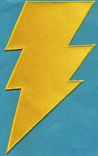 "SHAZAM / CAPT MARVEL 6""x10"" Large Fully Embroidered Yellow Chest Insignia Patch"