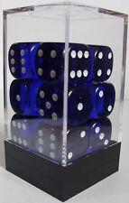 Pack de 12 Gemme Bleue-Dés 6 faces & 15mm côtés!!