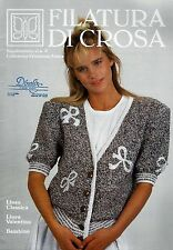 Filatura Di Crosa Knitting Booklet w/14 Patterns Supplement Collection Estate