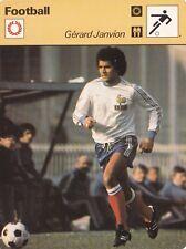 FOOTBALL carte joueur fiche photo GERARD JANVION (FRANCE)