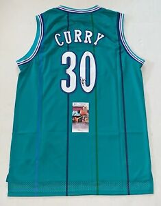 Dell Curry signed Charlotte Hornets jersey autographed 2 JSA