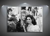 Labyrinth Vintage Movie David Bowie CANVAS Art Print - A0 A1 A2 A3 A4