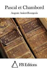 NEW Pascal et Chambord (French Edition) by Auguste Anicet-Bourgeois