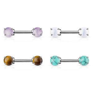 Nipple Piercing Gemstone Intimate Barbell Stud