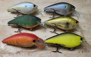 Lucky Craft B.D.S. 4 BDS4 lot of 6 HTF Lures LC Big Daddy Strike Fat CB