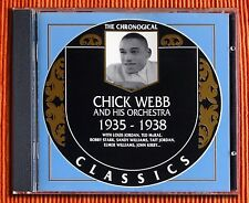 CHICK WEBB  1935 -1938   CD  The Classics Chronological Series 517  Like New