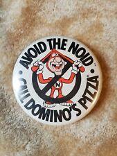 "Vintage Avoid The Noid Domino's Pizza 2"" Button"