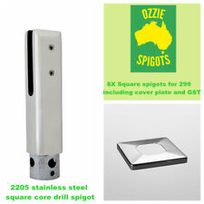 Glass Pool Fencing Spigots Duplex 2205 Stainless Steel