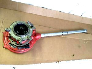 """Ridgid Model No.65-R Used Manual Pipe Ratchet Threader 1"""" to 2"""" Pipe-Adjustable"""