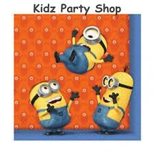 Despicable Me Minion Party - 20 Napkins 33cm  - Free Post in UK