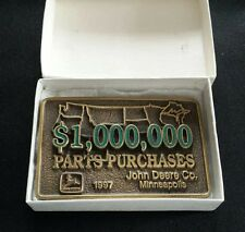 JOHN DEERE CO, MINNEAPOLIS $1,000,000 DOLLARS PART PURCHASES 1997 BELT BUCKLE