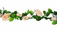Rose Garland Peach Wedding Arch Gazebo Decor Silk Flowers Centerpieces